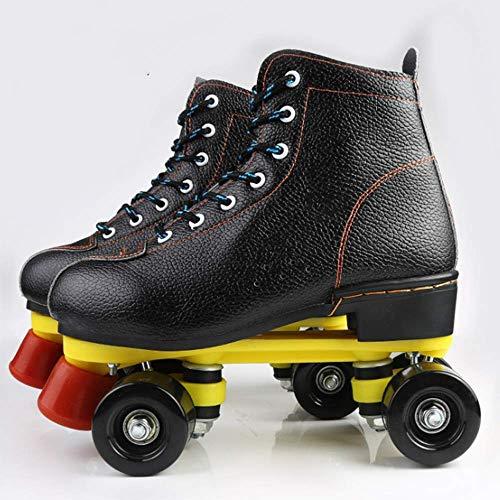 SHEHUIREN Sporting Skates Größe verstellbar mit ABEC 7 Carbon-Kugellager, Inliner für Kinder, Jugendliche und Erwachsene bis,42