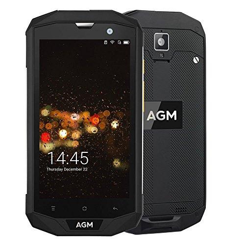 AGM A8 Outdoor Handy 5,0 Zoll FDD LTE Dual SIM Smartphones Android 7.0 3GB+32GB 13.0MP Dual Kamera IP68 Wasserdicht Staubdicht Stoßfest 4050mAh Akku Unterstützt NFC GPS Schwarz