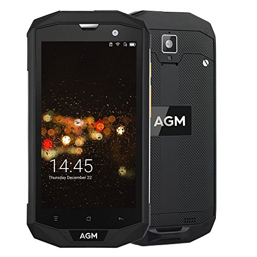 AGM A8 Outdoor Handy 5,0 Zoll FDD LTE Dual SIM Smartphones Android 7.0 3GB+32GB 13.0MP Dual Kamera IP68 Wasserdicht Staubdicht Stoßfest 4050mAh Akku Unterstützt NFC GPS Schwarz