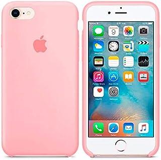 8089da7f851 Generica - Funda de Silicona Suave con Logo para Apple iPhone 7/8 Rosa
