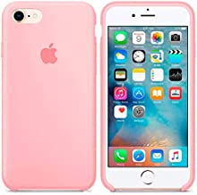 Generica - Funda de Silicona Suave con Logo para Apple iPhone 7/8 Rosa