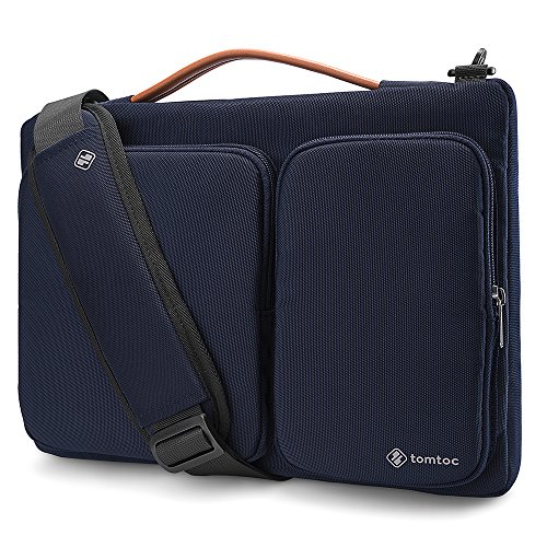 tomtoc Laptop Sleeve Shoulder Bag for 2018-2020 13-inch MacBook Air A1932 A2179 with Touch ID, 12.9' New iPad Pro Liquid Retina, 12.3' Surface Pro, 13' MacBook Pro USB-C, Dell XPS 13, Blue