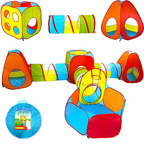 Playz Ball Pit, Play Tent and Tunnels for Kids, Gift for Toddler Boys...