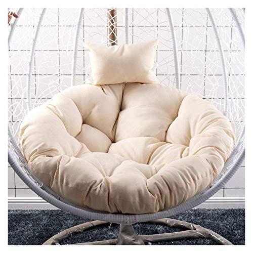 HLZY - Cojines para sillas de patio de mimbre para silla de jardín, jardín, patio, columpio, cojín redondo, colgante de huevo