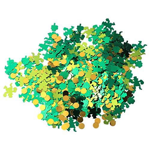 VALICLUD 5 Paquetes St. Confeti de Mesa Del Día de Patricio Estrella Redonda Tréboles Dispersos de Mesa Lentejuelas Fiesta de Trébol Irlandés Afortunado Asperja para La Decoración de