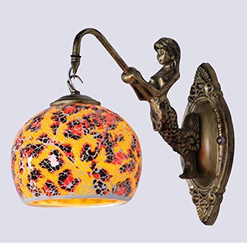 Bedlampje mozaïek kinderen zeemeermin. wandlamp
