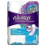 Always Discreet Inkontinenz Einlagen plus Long Bei Blasenschwäche, 5er Pack (5 x 10 Stück)