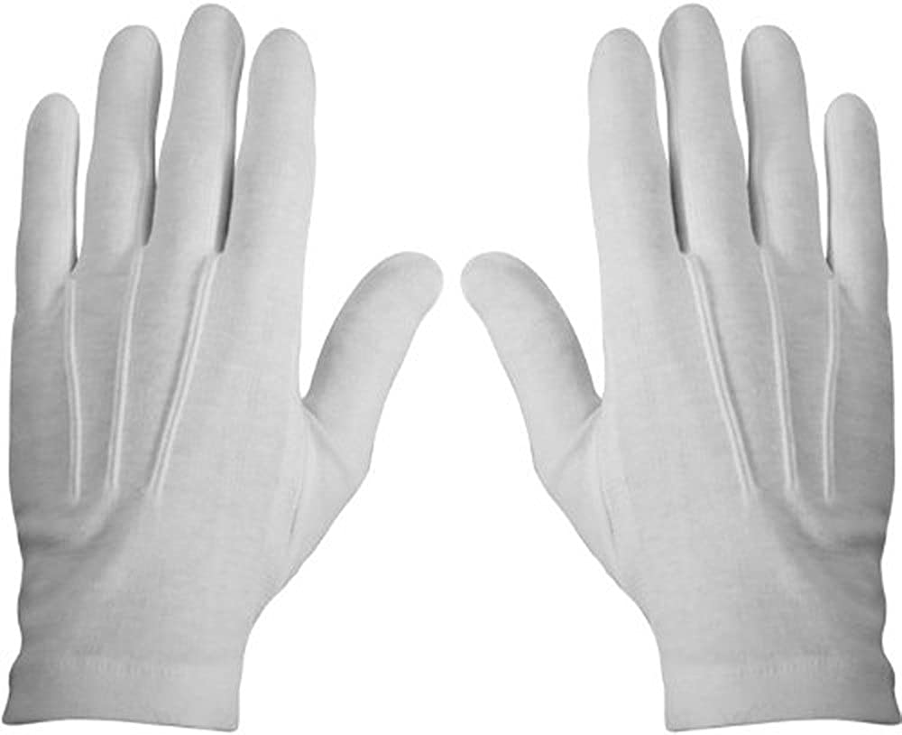 White Stitched Cotton Gloves-Pair 2X-Large Outstanding 70% OFF Outlet