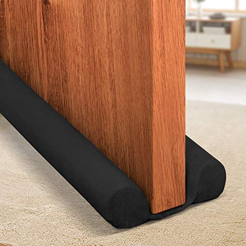 Holikme Twin Door Draft Stopper Weather Stripping Noise Blocker Window Breeze Blocker Adjustable...