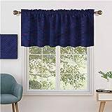 Hiiiman - Cortina opaca para ventana (2 unidades, 137 x 61 cm, para sala de estar, cortinas cortas y rectas
