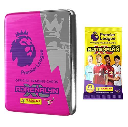 2020-21 Panini Adrenalyn Premier League Cards 9 Packs, 1 Golden Baller Card, 2 Special Material Cards /& LE Card 1 Bonus Pack Mega Tin