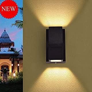 Improvhome Up-Down Outdoor led Wall Light IP65, Warm White, Built-in OSRAM LED, Grey Aluminium die Casting Body, (6) Facade Light 2 x 3 watts