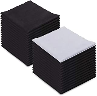 Microfiber Cleaning Cloths - (30 Pack) -for Glasses,Eyeglass,Cell Phones,iPad,iPhone, Laptops, Tablets,Spectacles, Silverware,LCD TV Screens,and Delicate Surfaces