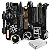 Gifts for Fathers Day Survival Gear and Equipment,31 Pieces in 1 Bag Emergency Supplies Survival Kit for Men,Fishing Accessories Camping Gear Gadgets for Men Women Teens Boys