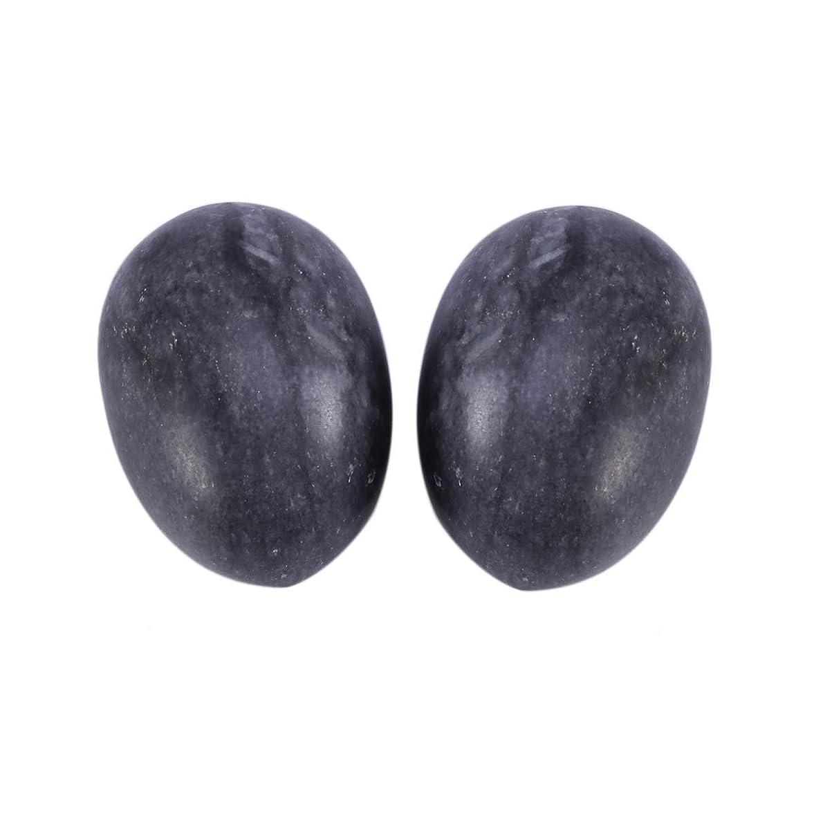 福祉特異性議論するHealifty 6PCS翡翠Yoni卵マッサージ癒しの石のケゲル運動骨盤底筋運動(黒)