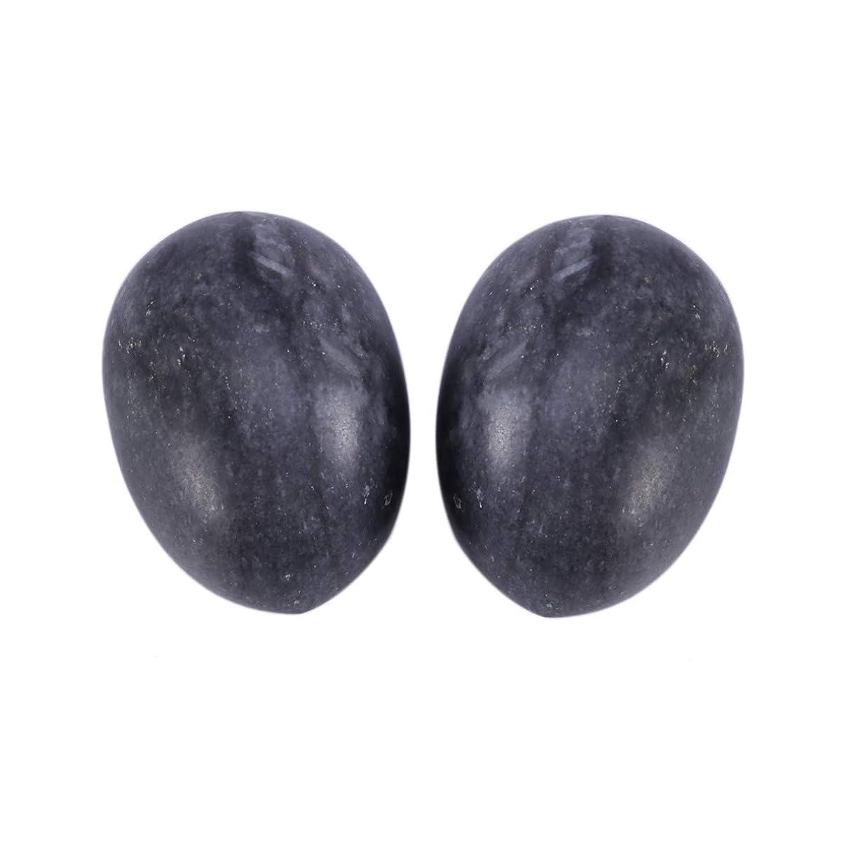 灰オーディション近くHealifty 6PCS翡翠Yoni卵マッサージ癒しの石のケゲル運動骨盤底筋運動(黒)