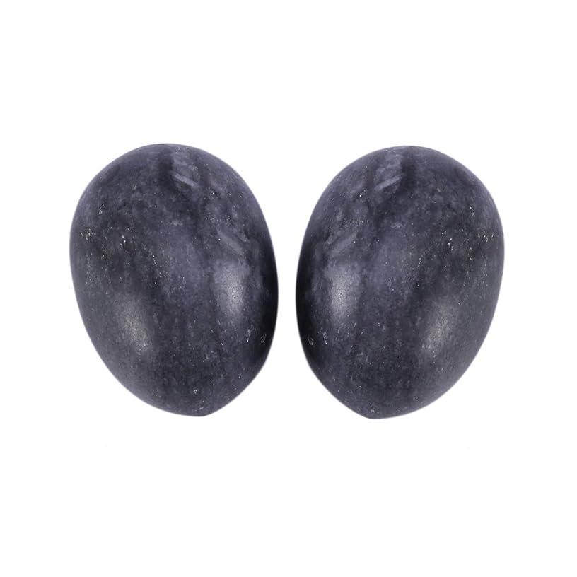 シード活性化する彼自身Healifty 6PCS翡翠Yoni卵マッサージ癒しの石のケゲル運動骨盤底筋運動(黒)