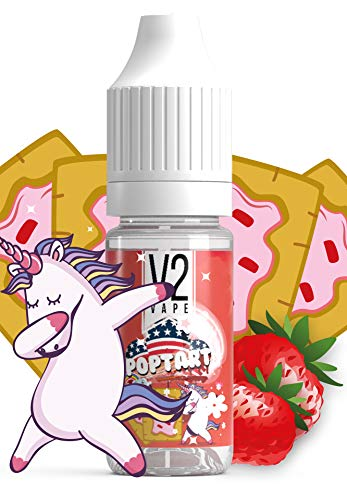 V2 Vape E-Liquid US Poptart - Toast Keks Frucht & Cerealien Mix USA Style gebrauchsfertig - Made in DE 0mg nikotinfrei - 20ml