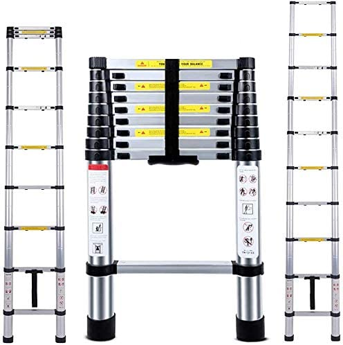 lowest 9.5 FT EN131 Lightweight Telescoping Ladder-Max Load 330 lbs,Jason 2.9 Aluminum Telescopic Extension Ladders for Home,Outdoor and new arrival Business sale etc. [Step A +++](9.5TF/2.9M) sale