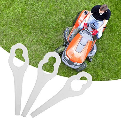 Zouminy Grasschneider Kunststoffklingen, 50 Stück Grasschneider Kunststoffschaufeln Rasenmäherteile für BO-SCH ALM 28 30(Weiß)