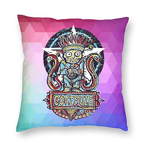 TIERA BENDER Gov't Mule Cushion Cover Throw Pillow Cover Durable Pillow Case Square Home Decoration Gift 16'' X16