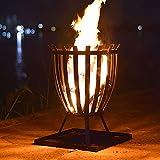 WSCQ Brasero de Exterior, 2 en 1 Estufa de Hoguera al Aire Libre Gran Cuenco de Fuego con Bandeja de Ceniza para Camping Picnic Hoguera Patio Patio Backyard Garden Playas Parque,18 * 18 * 24.4'