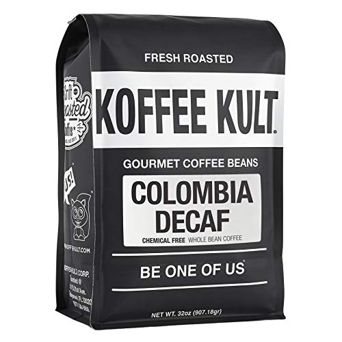 Koffee Kult - Colombian Decaf Coffee- SWP (Whole Bean, 32oz)