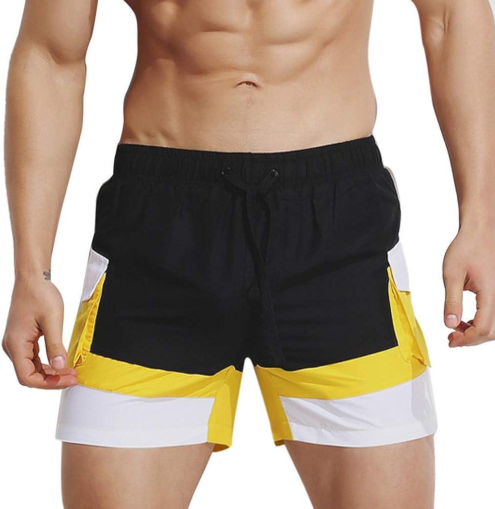 MODOQO Shorts Trunks for Men, Drawstring Summer Surfing Swimming Beachwear Pants