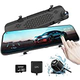 AUTOWOEL 2.5K Mirror Dash Cam, 12' Touch Screen Front and Rear Dual Dash Camera for Cars, Super Night Rear View Mirror Camera, Backup Camera with Sony IMX415 Sensor, GPS, G-Sensor, Parking Assistance