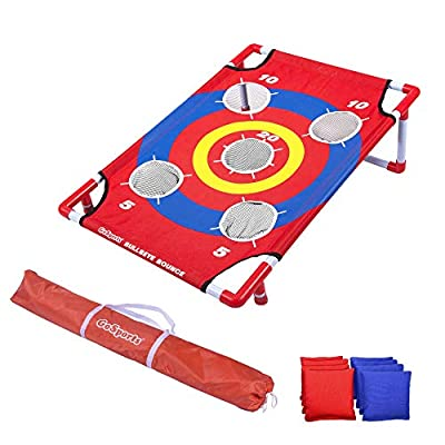 GoSports Bullseye Bounce Cornhole Toss Game - Great for All Ages & Includes Fun rules by P&P Imports LLC