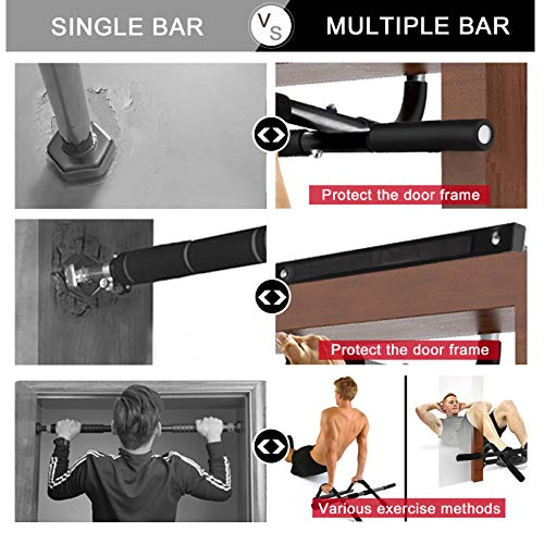 Strengthened Pull Up Bars Door Frame Gymnastic Chin Up Bars for Door Home Gym Upper Body Workout Muscle Building Strength Training