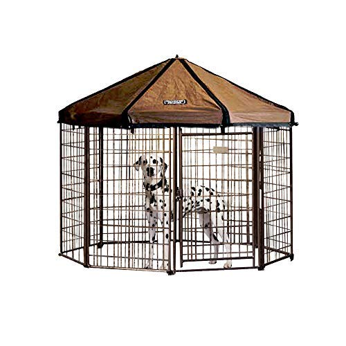 Advantek Pet Gazebo Outdoor Metal Dog Kennel with...