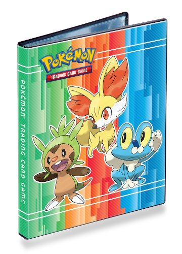 Ultra-Pro 4-Pocket Pokemon Card Binder/Portfolio ft. Chespin, Fennekin and Froakie from X and Y! (Album Holds 40-80 Cards) image