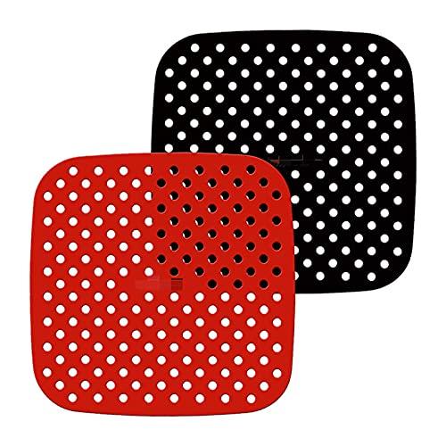 Forros de freidora de aire de silicona lavables y reutilizables freidora de aire antiadherentes esteras duraderas herramientas de cocina accesorios