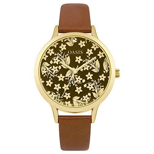 Oasis Damen Analog Quarz Uhr mit PU Armband B1585