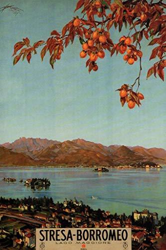 Stresa Borromeo Lago Maggiore Italian Lake Vintage Travel Cool Wall Decor Art Print Poster 24x36