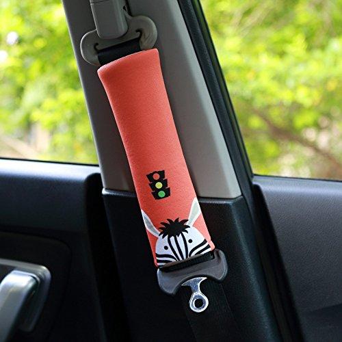 PUSHIDE 2PCS Almohadillas para cinturón de seguridad Auto de seguridad Cinturón Correa para el hombro Protector Pads D