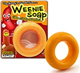 Gears Out Big Jimmy's Weenie Soap - Funny Happy Hot Dog Design - Novelty Soap for Men - Yellow Circle soap, Light Scent