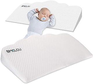 SMELOV ベビー枕 斜面枕 嘔吐を防ぐ 向き癖防止枕 吐き戻し防止 寝姿を矯 傾斜 新生児 子供 赤ちゃん洗える 授乳クッション 低反発ピロー 折りたたみ式 64×33×2--7cm