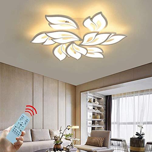 Lámpara LED de techo regulable, lámpara de salón con mando a distancia, color de luz/brillo, cambio de color, dormitorio, lámpara de techo moderna, iluminación de techo, lámpara de araña, atenuación.