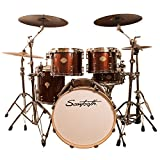Sawtooth Command Series 5-Piece Drum Set Shell Pack, Red Streak