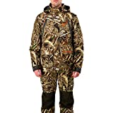 HUNTSHIELD Men's 3-in-1 Waterfowl Jacket | Real Tree Max-5 Water-Resistant Hunting Jacket | Camo | X-Large