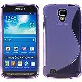 HCN PHONE Samsung I9295 Galassia S4 Attivo Custodia S-Line TPU Gel Silicone Custodia Flessibile per Samsung i9295 Galassia S4 Attivo - Viola