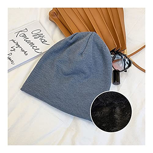 DWQ Encantador Sombrero de Gorro de Invierno de Punto Grueso con Forro de Felpa, Gorro a Prueba de Viento a Prueba de Viento Sombreros de Punto Holgados for Mujer, Adolescentes, niñas Barato