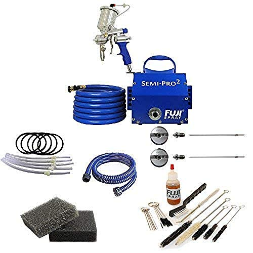 Fuji Spray Semi-PRO 2 Gravity HVLP Spray System with Pro Accessory Bundle (7 Items)