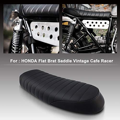 MeterMall - Sillín de Moto, Estilo Vintage, para Honda CB CL Yamaha SR XJ Suzuki GS