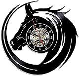 Reloj de pared de vinilo con diseño retro y creativo de vinilo de mesa Reloj de pared de cuarzo Reloj de pared Reloj de pared de cuarzo Reloj de pared Reloj de disco-Con_luce_LED