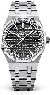 Audemars Piguet Royal Oak Selfwinding, Black dial, 37mm, Stainless Steel, Diamond-Set Bezel, 15451ST.ZZ.1256ST.01