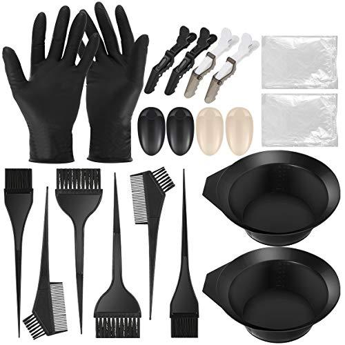 iFCOW Hair Dye Tool, 20 stks Hair Dye Kleurplaten Set Mixing Bowl Dye Borstels Handschoenen Verwijderbare Capes voor Haarkleuring Bleken