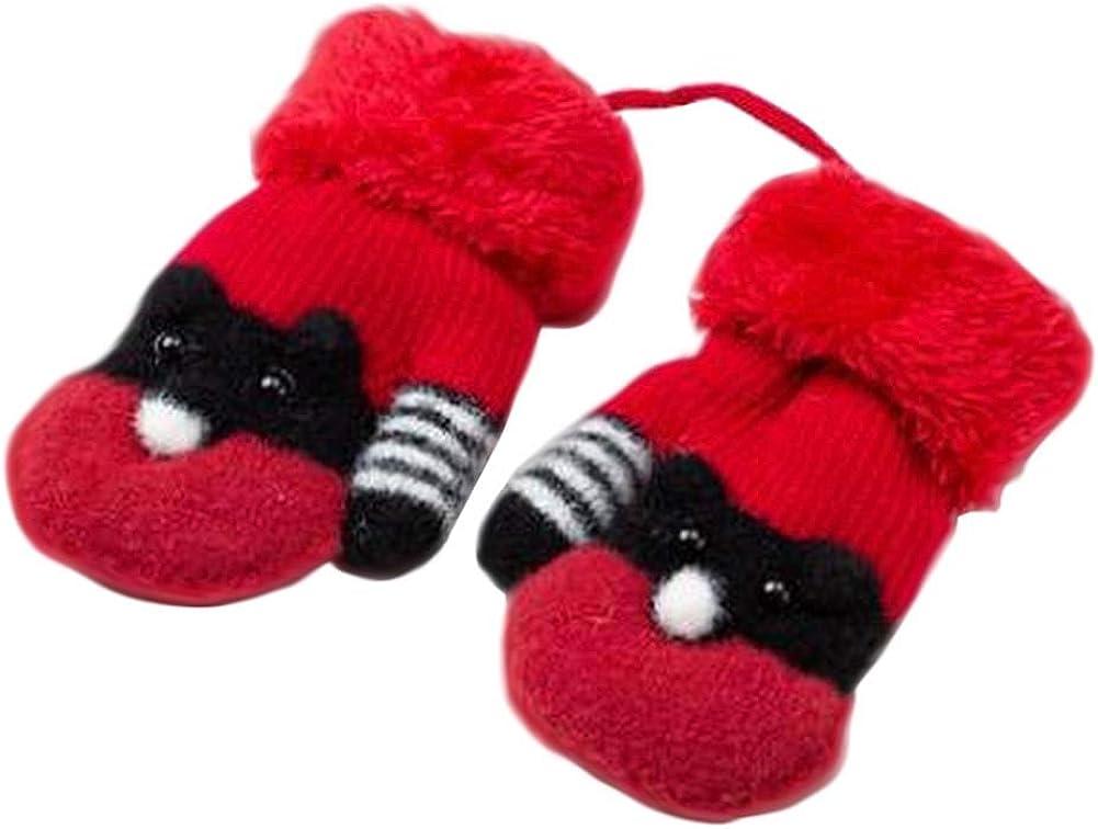 Lovely Knitted Baby Mittens Warm Winter Children Mittens Baby Gloves #08